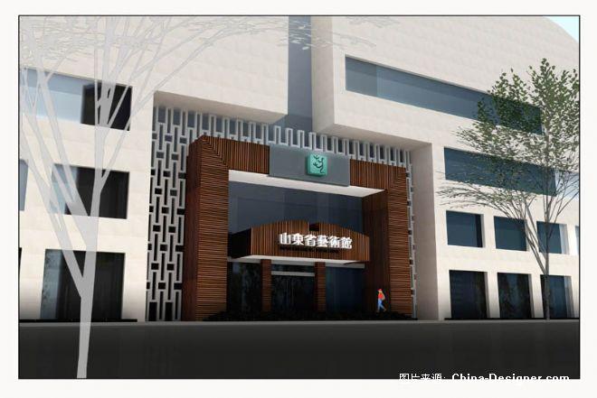 山东省艺术馆-李明的设计师家园-艺术中心,100-200万,白色,现代