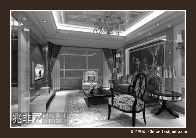 熊岳鸿基书香苑-王跃飞的设计师家园-200万以上,四居,黑色,新古典