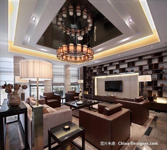 大公园沙龙会所-张晓莹的设计师家园-现代,中式,沉稳,100-200万