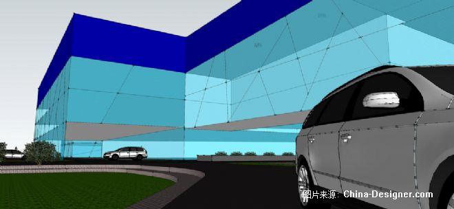 海江作品:小型汽车城整体规划-池海江的设计师家园-黑色,办公室