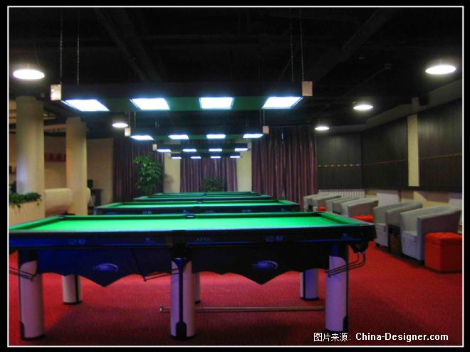 大连沙河口火车站来立台球会所设计-孟玄的设计师家园-蓝色