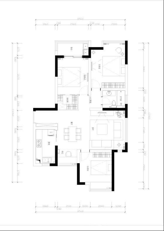 北欧风情壹-孟令凯的设计师家园-青春,原生态,北欧风格,现代简约,三居