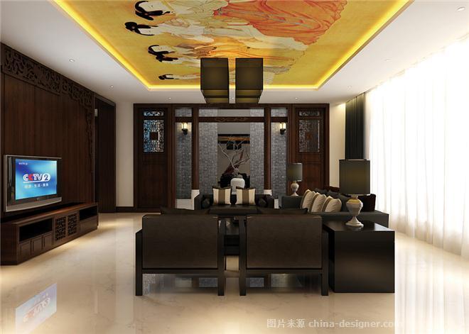 摩天石样板间-裴啸的设计师家园-中国风,沉稳庄重,新中式