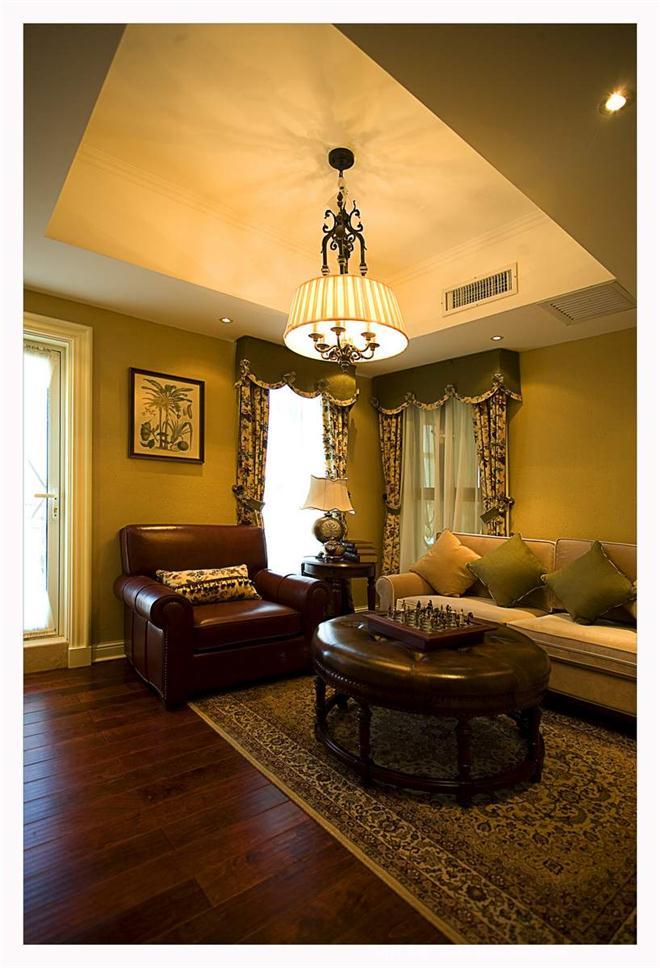 东龙壹湾样板间-斯图加特公司的设计师家园-美式,别墅样板间