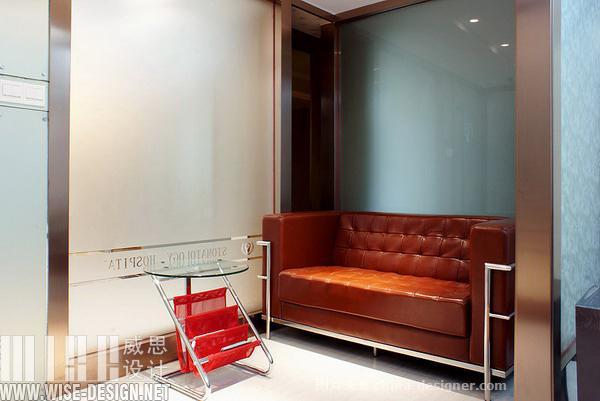 顺德口腔(容桂店)-威思设计的设计师家园-口腔诊所,现代简约,科技智能,简约大气,沉稳庄重,闲静轻松,奢华高贵,橙色,棕色,黄色,黑色,灰色,白色