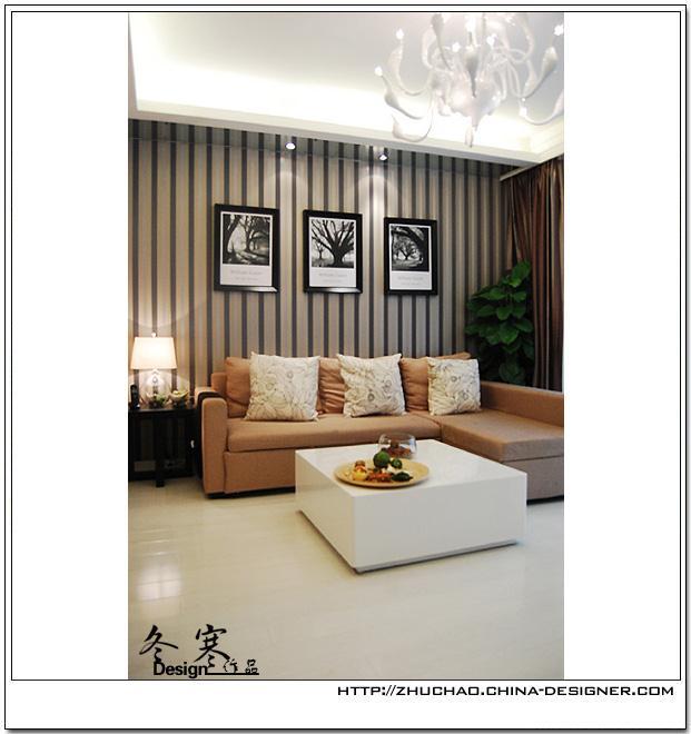 美兰湖-茉莉纹语-朱超的设计师家园-现代简约,二居