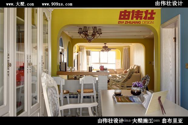 由伟壮设计130�O蓝色爱情海之梦遇香居-由伟壮的设计师家园-田园风格,青春,地中海风格,二居