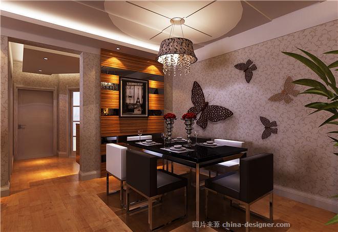 现代时尚风格135平米-北京元洲装饰有限责任公司的设计师家园-现代简约,餐厅,客厅,三居
