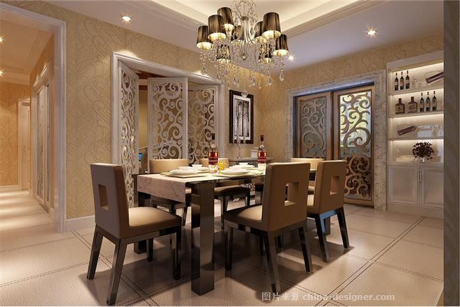 欧式奢华风-北京元洲装饰有限责任公司的设计师家园-现代欧式,卧室,餐厅,客厅,三居