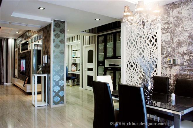 美丽家园后现代风格装修-上海兆庭建筑装饰工程有限公司的设计师家园-后现代主义,客厅,二居