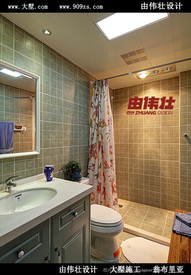由伟壮设计220�O享受美式恬静生活-由伟壮的设计师家园-田园风格,联排别墅,美式