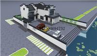 设计师家园-原创建筑设计临湖二层农村L型四合院建筑图