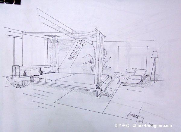 木头盒子素描画