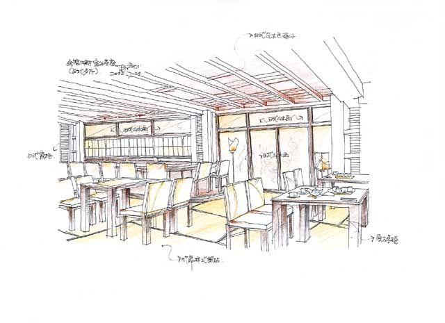 6(餐厅手绘图)-聂林的设计师家园-欧式