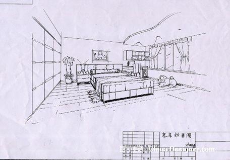 《客房手绘效果图》-设计师:黄忠.设计师家园-忠仔