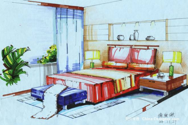 手绘效果图-陈云杰的设计师家园-住宅公寓