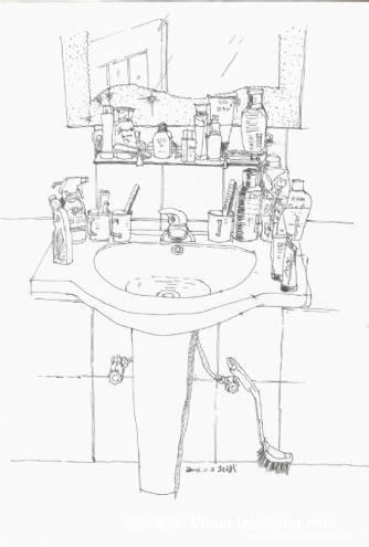 卫生间速写-陈教斌的设计师家园-住宅公寓