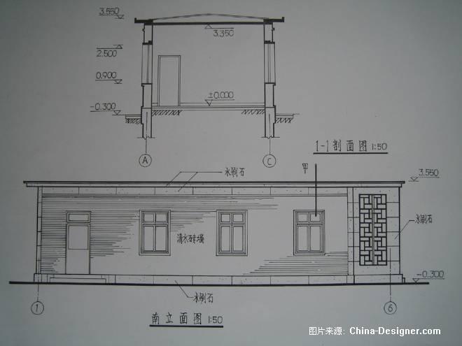 室内设计cad剖面图- _汇潮