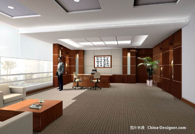 海南海洋局局长办公室-蓝鹰的设计师家园-办公楼