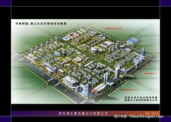 鹤壁新区规划图-郑州清水建筑画设计有限公司的设计