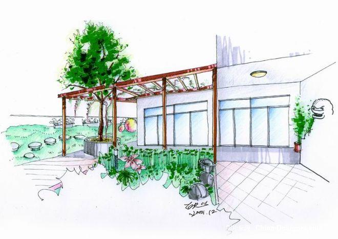 屋顶花园透视-胡思的设计师家园-其他