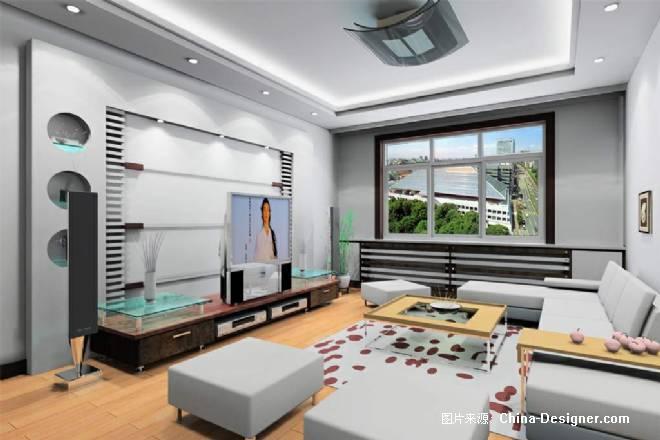 客厅-郝的设计师家园-两点透视