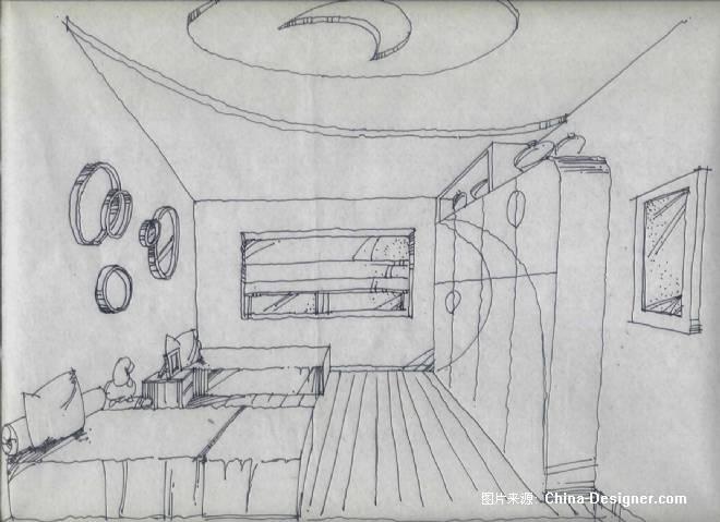《卧室》-设计师:曹彬彬.图片