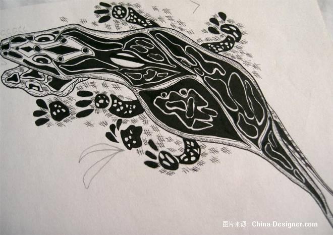 动物变形图案设计; 《动物变形》-设计师:怡新设计工
