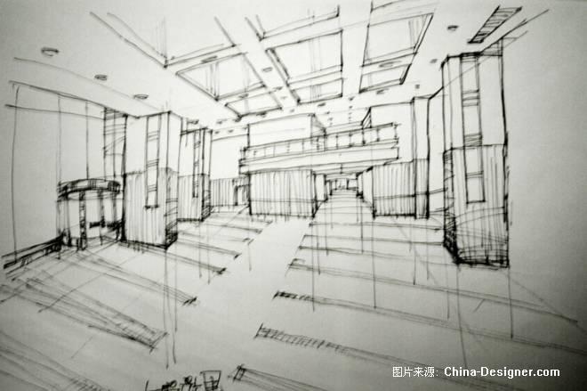 某酒店大堂效果草图-周光军的设计师家园-商场