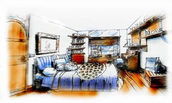手绘图-江涛的设计师家园-住宅公寓图片