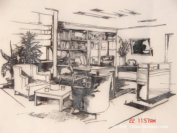 《室内外手绘表现》-设计师:艾末末.设计师家园-█图