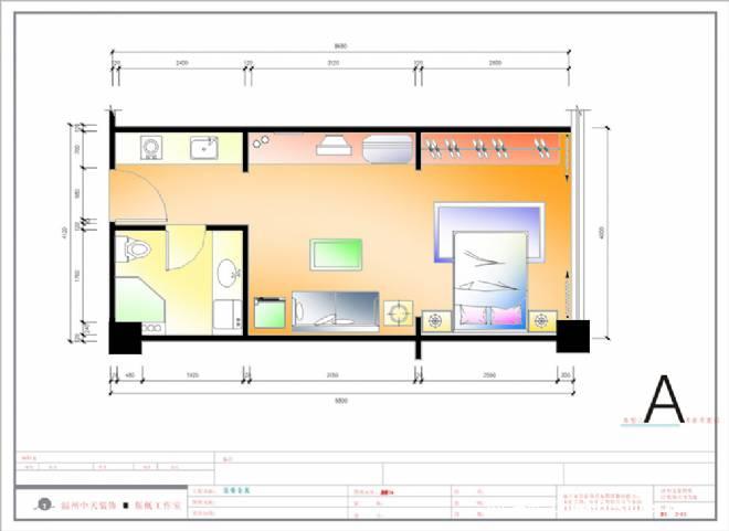 无锡单身公寓平面套色-剑烟客的设计师家园-住宅公寓