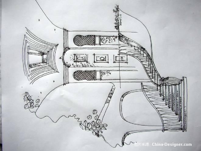 素描楼梯画法步骤图片