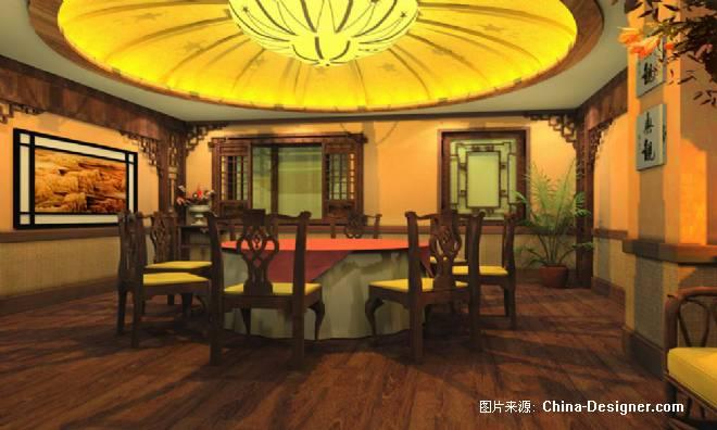 中式饭店设计方案-凹凸的设计师家园-商场图片