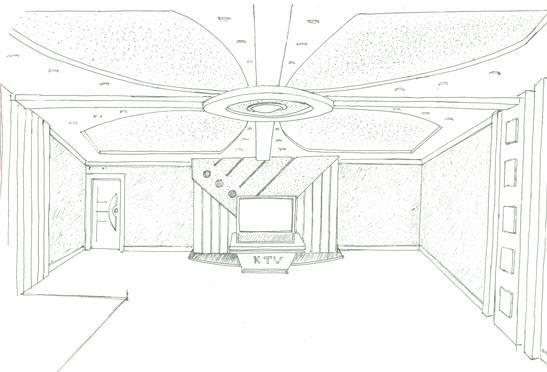 茶馆室内手绘效果图