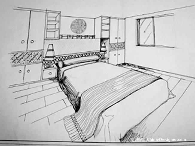 主卧室两点透视-周云的设计师家园-住宅公寓