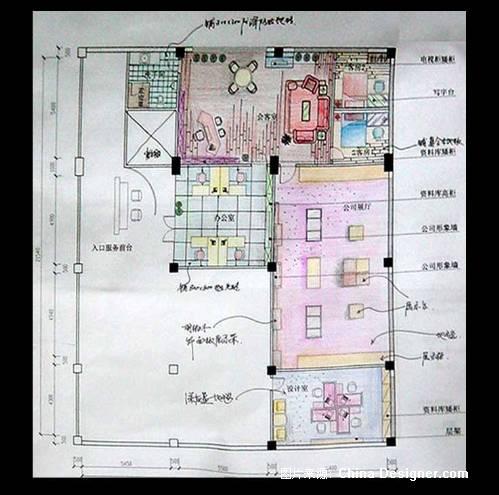 服装厂房的平面图-许珠红的设计师家园-办公楼