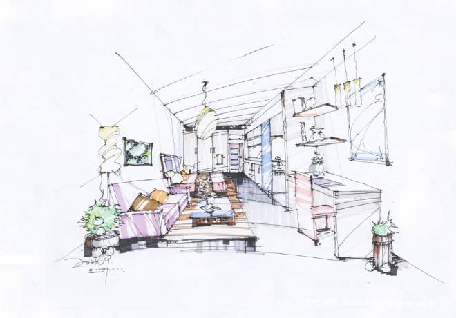 卧室的手绘图-何欲源的设计师家园-住宅公寓