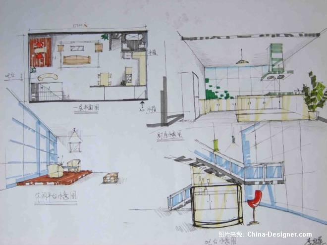 吧台 展示设计系列手绘表现