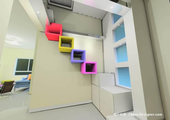 楼梯间-青岛四维设计工作室的设计师家园-住宅公寓