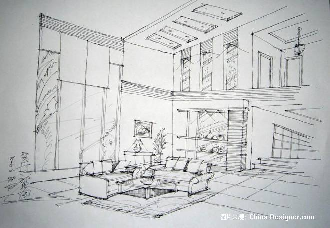 手绘8588585858-韦烽的设计师家园-住宅公寓