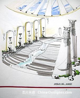 简笔画 楼梯 手绘 线稿