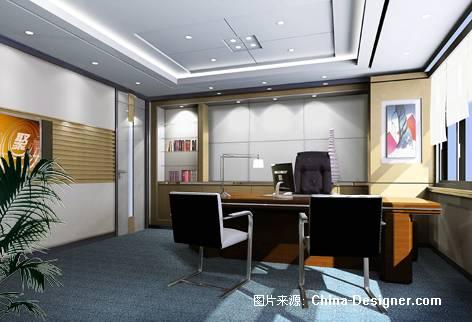 老总办公室效果图-朱猛的设计师家园-办公楼