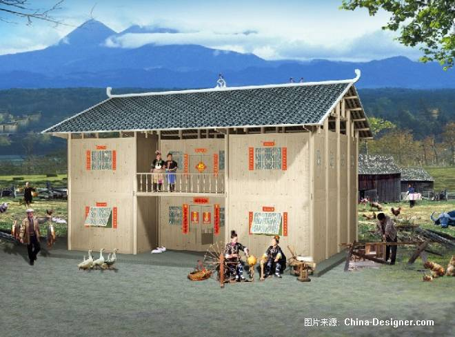 农村带院子房屋设计图