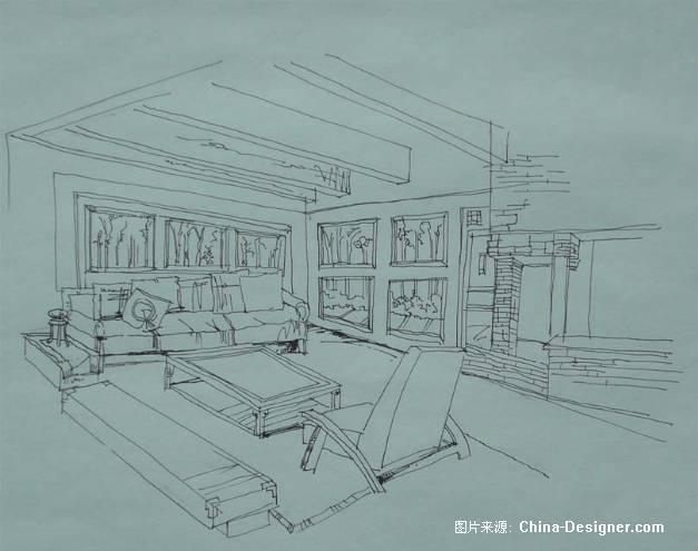 室内速写-谭娜的设计师家园-住宅公寓