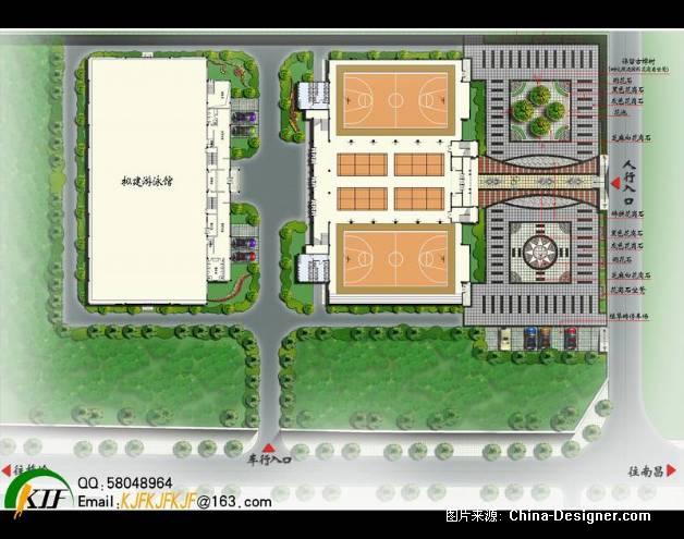 育馆环境设计总平面图-况建峰的设计师家园-学校