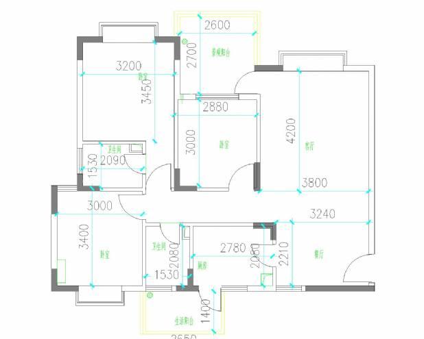 三居室平面图-舒勤的设计师家园-住宅公寓