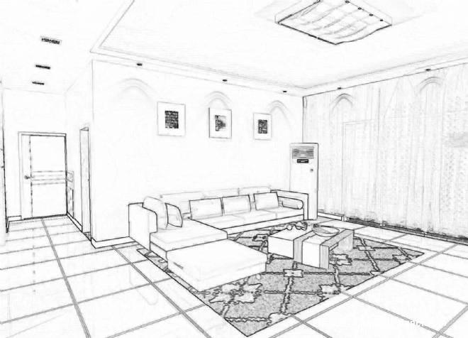 客厅平面图简笔画