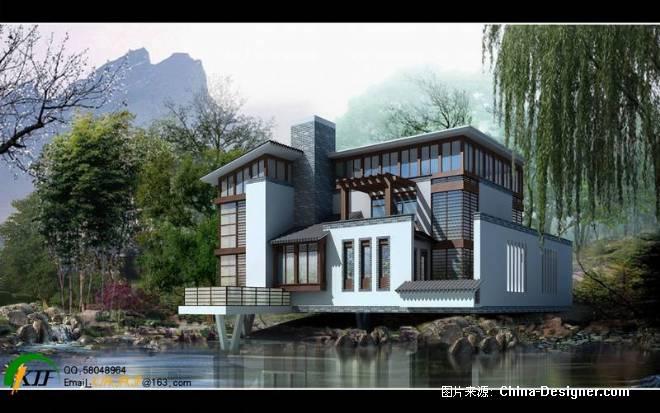 陶艺山庄d1别墅透视图-况建峰的设计师家园-别墅