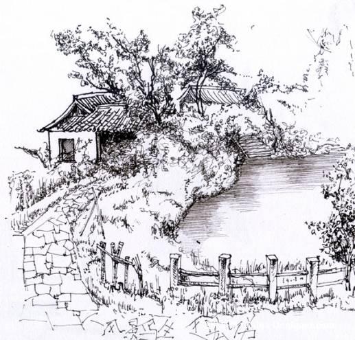 广场景观设计手绘线稿分享展示